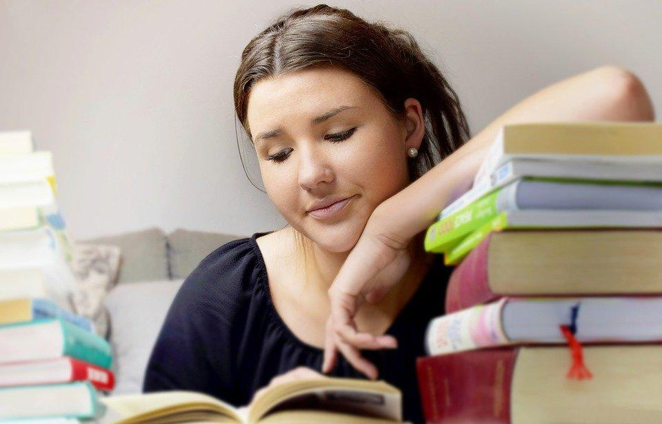Girl, Woman, Young People, Learn, Read, Books