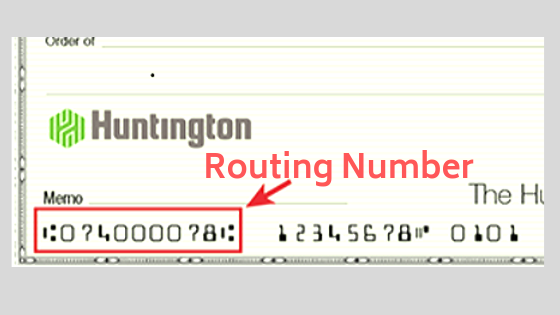 how to find your huntington bank routing number