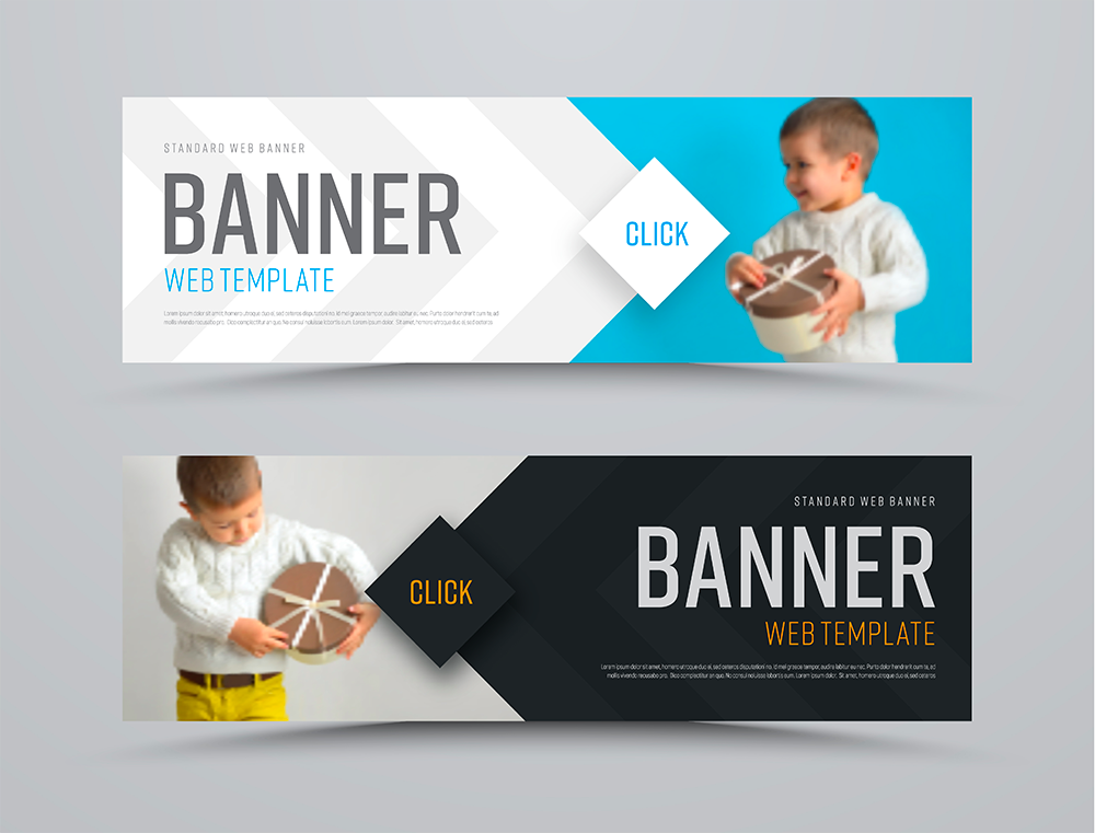 two banner examples