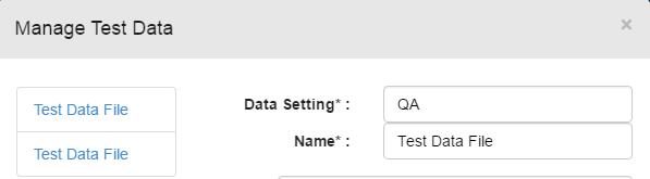 QA data setting