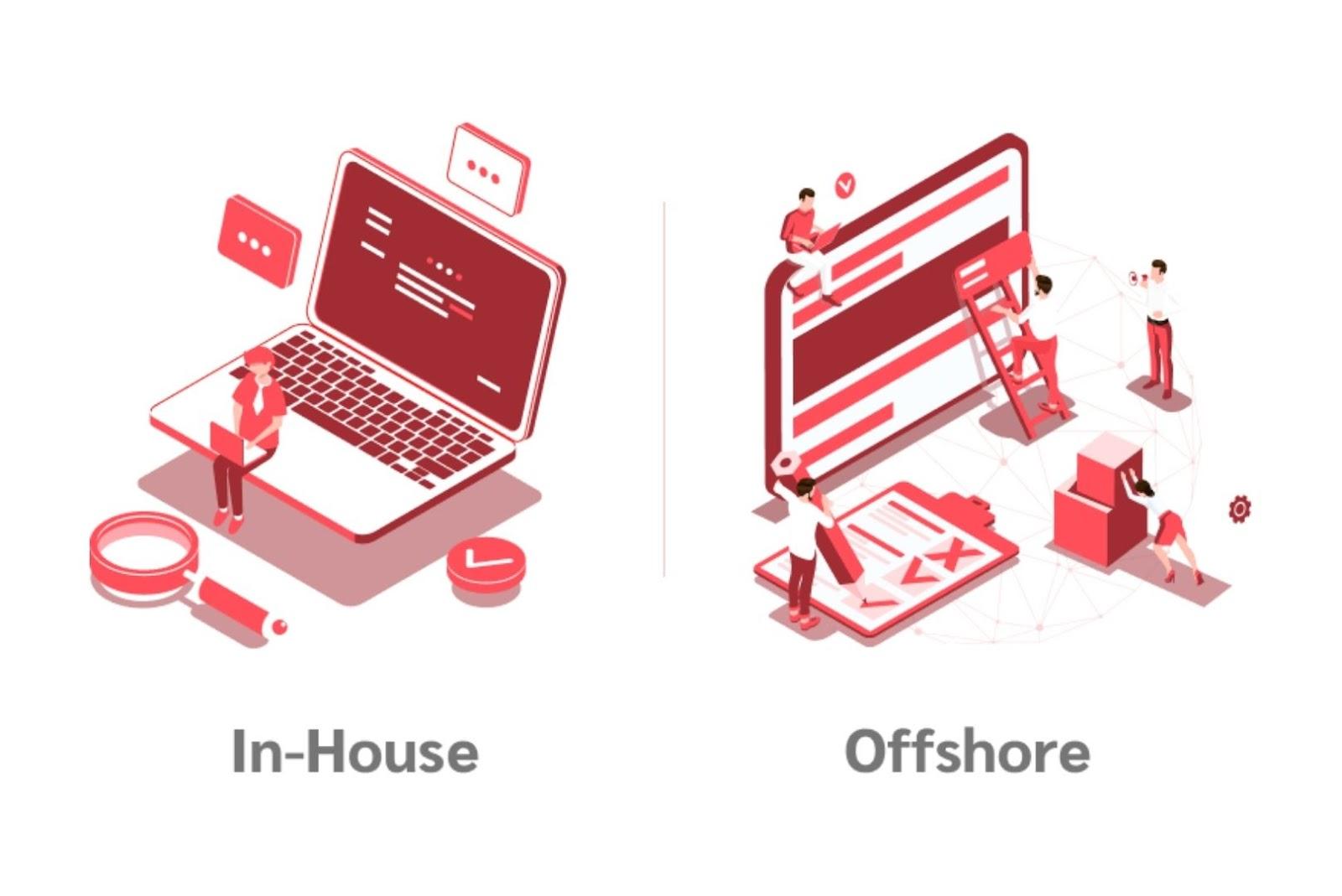 In-house app developer vs offshore app developer