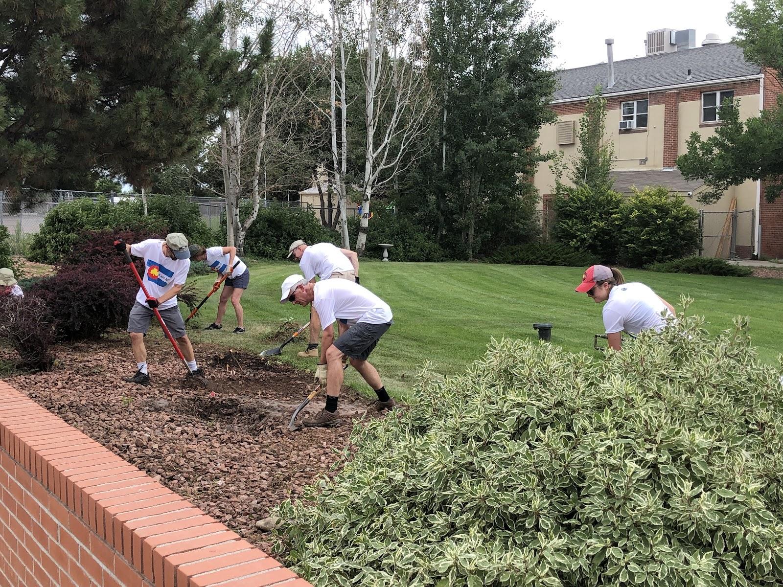 Notre Dame Club of Denver - Butterfly Garden Installation