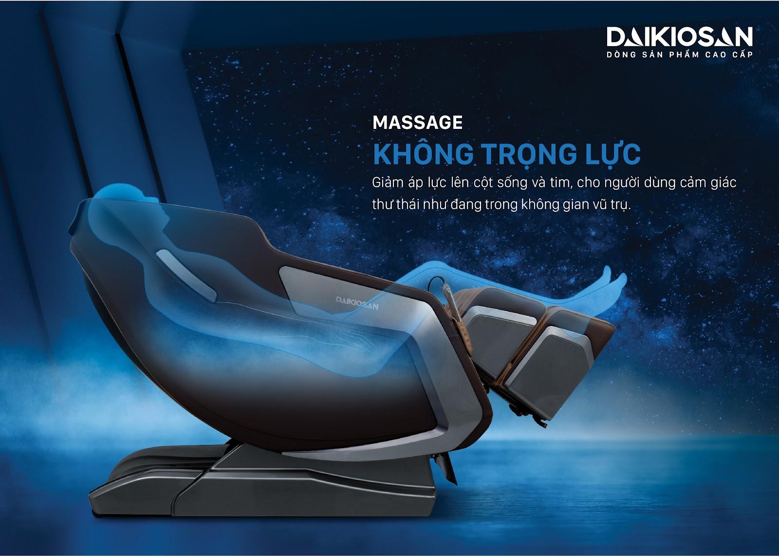 phương pháp massage không trọng lực giúp giảm áp lực lên cột sống