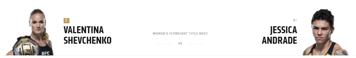 UFC 261: Shevchenko vs. Andrade