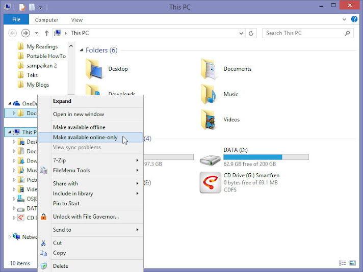 OneDrive make available online only