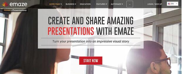 emaze for digital signage