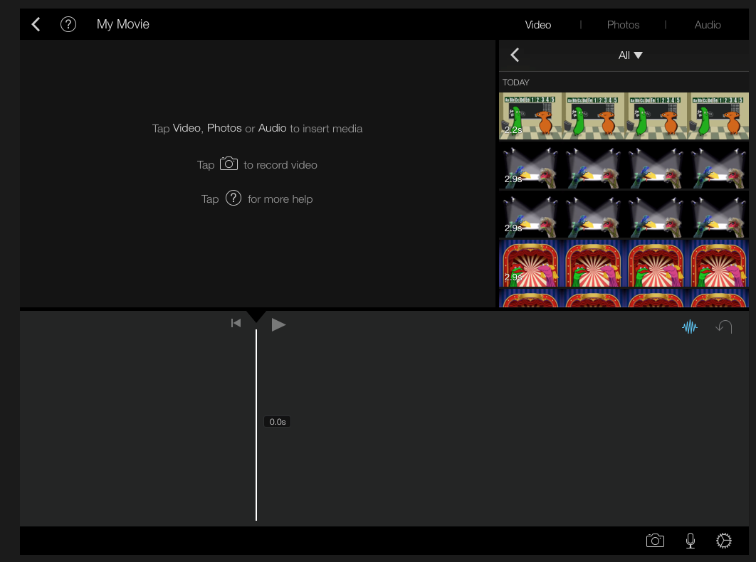 how to add another audio layer in imovie