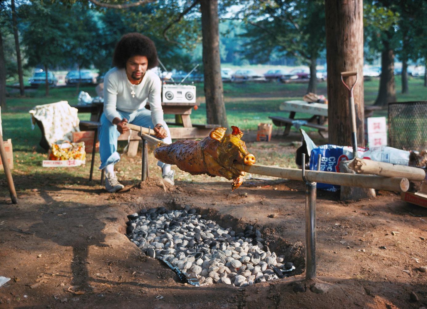 Neal Boenzi pork in the park
