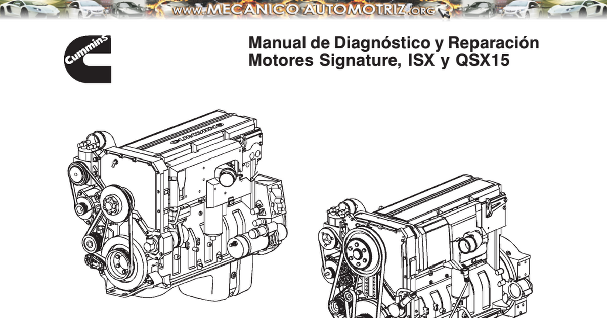 Manual-diagnostico-reparacion-motores-signature-isx-qsx15 Pdf
