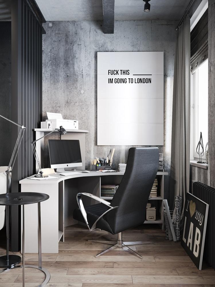 Masculine Desk Design Ideas