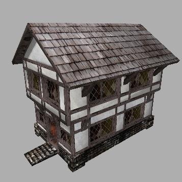 medieval house nr 2 3d model low-poly obj fbx lwo lw lws dae mtl tga 1