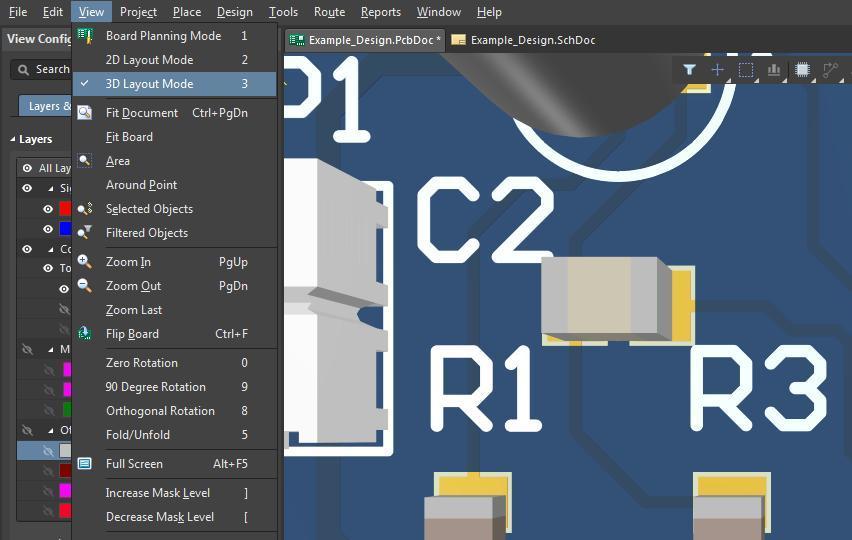 Captura de pantalla del comando de 2D y 3D diseño de AD18 para cambiar de MM a mil