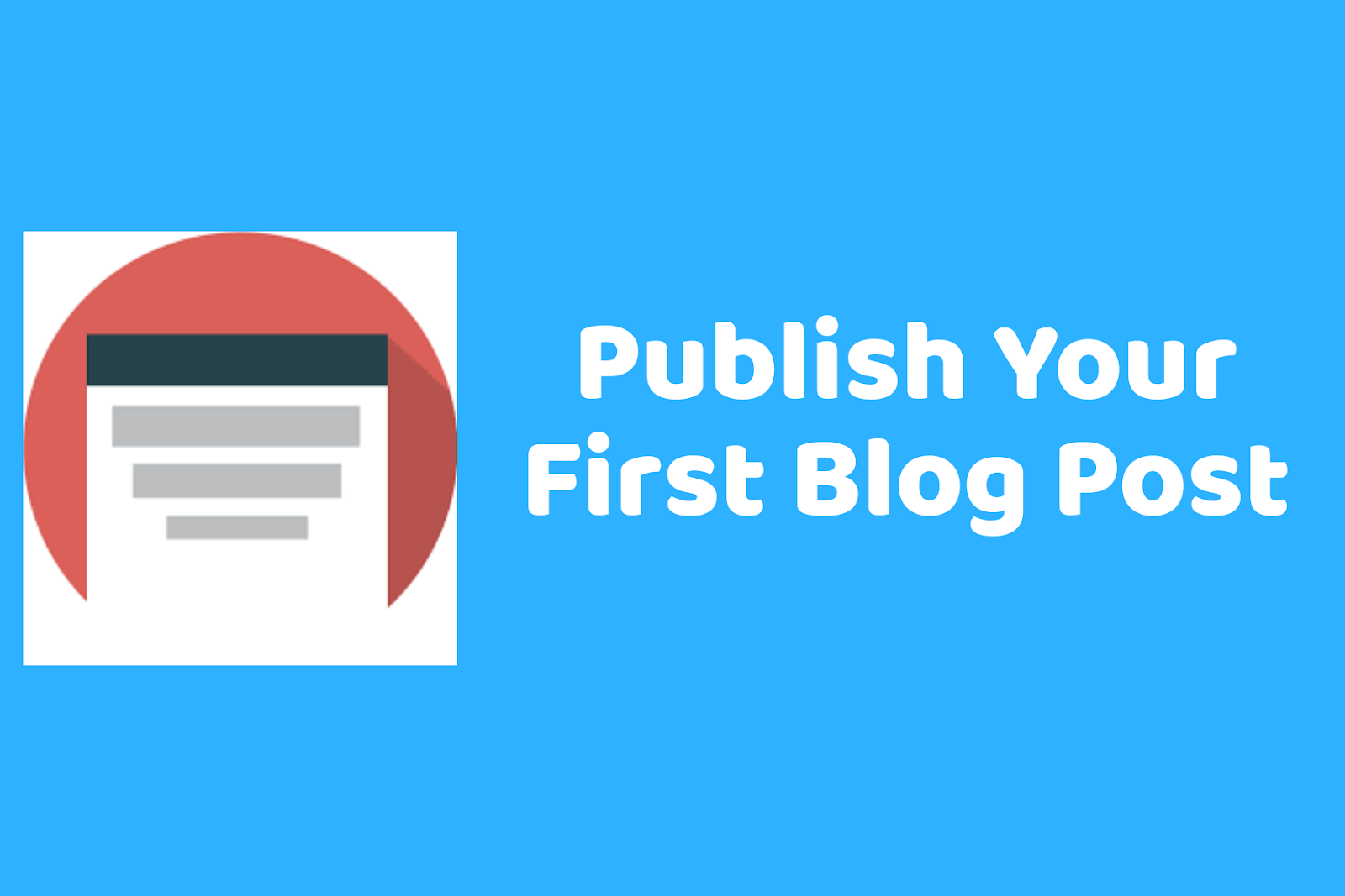 Publish your blog post