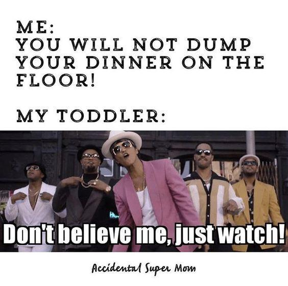 21 hilariously relatable memes for toddler parents. These funny toddler memes will have you nodding along in agreement and spitting out your coffee laughing! #funnymemes #toddlers #momhumor #dadhumor #lifewithkids