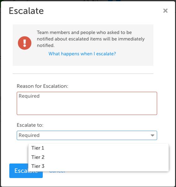 Escalation Module in KaiNexus screenshot 4