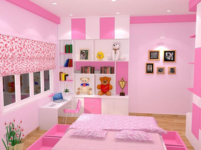 sơn nhà đẹp màu hồng