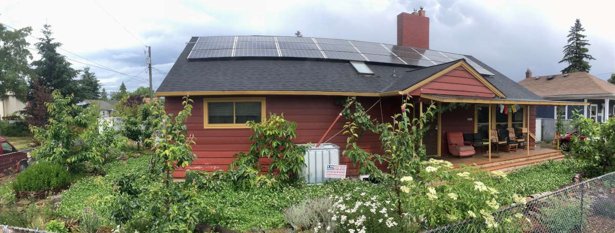 Our House After Solar and Food Forest