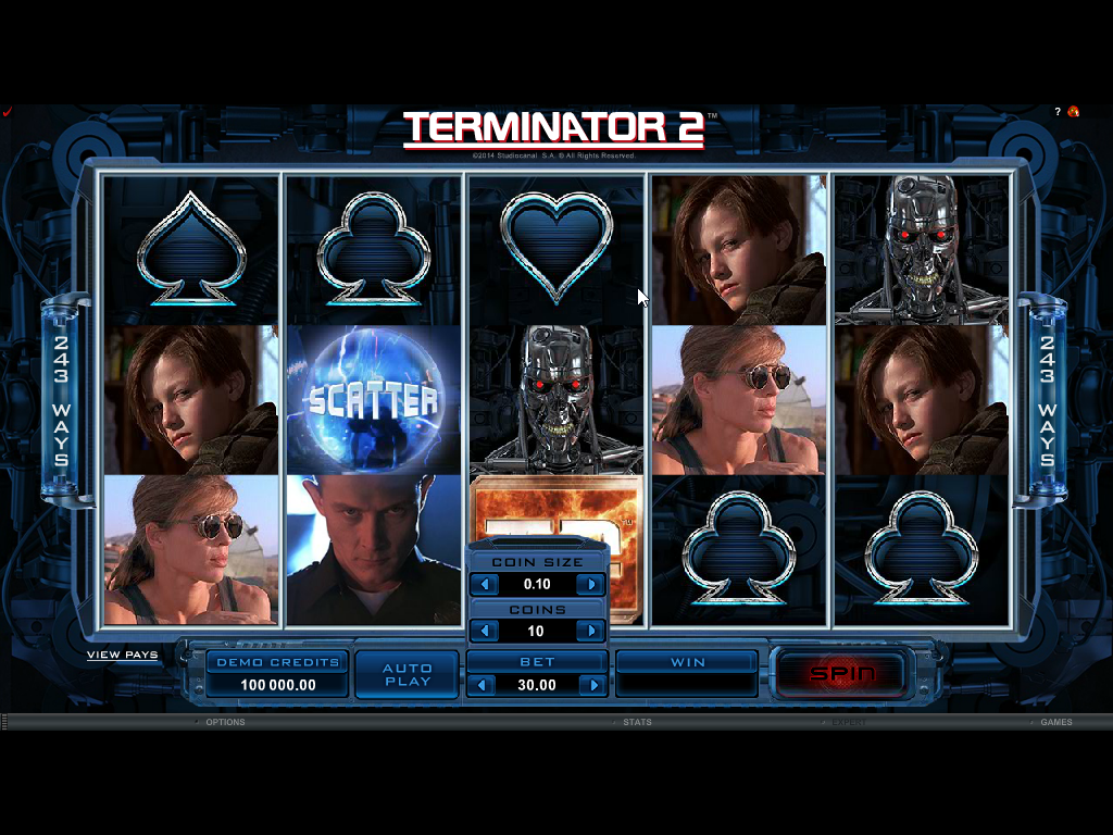 Terminator 2 Slots Game Review