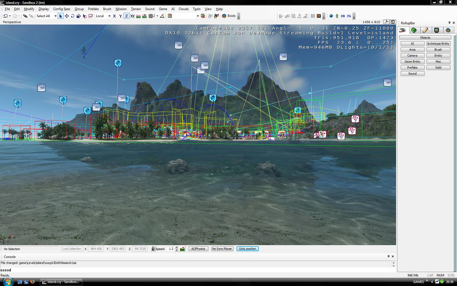 Screenshot from the CryEngine sandbox editor 2007. The Chinese Communist Party's Tencent is looking to purchase Crytek.