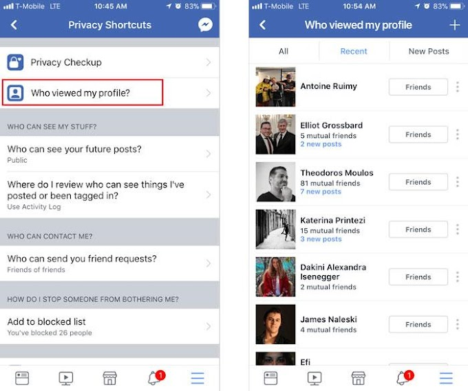 How do I know who visits your Facebook without contact you?