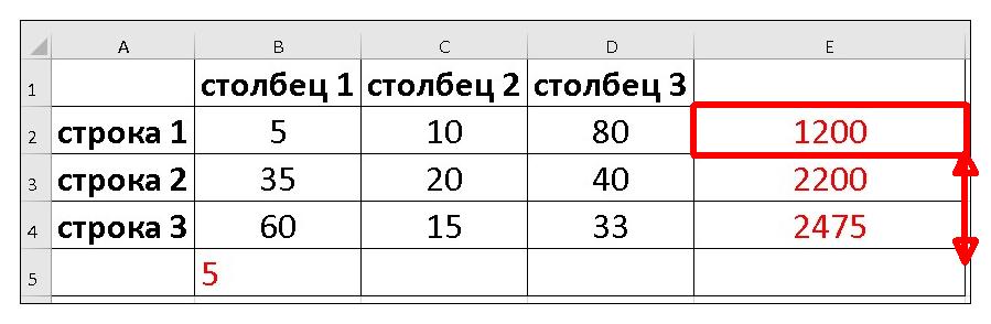 дублируем формулы просчета процентов в эксель