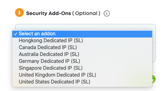 Ivacy security add-on options