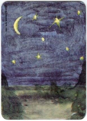 Карта из колоды метафорических карт Ох: ночное небо