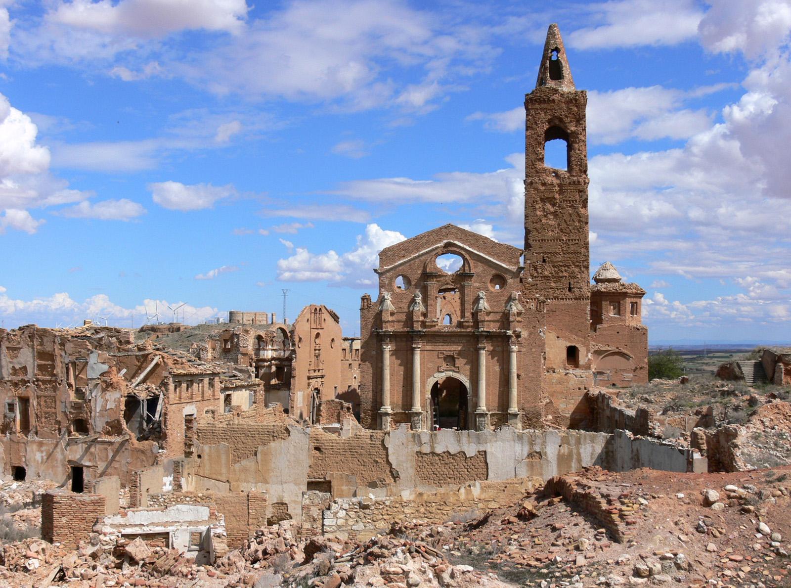 Belchite, el pueblo fantasma de Zaragoza