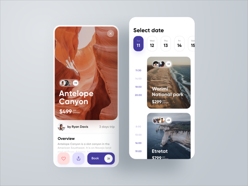 Worldwide Excursions Application trip nature excursion booking datepicker calendar uxdesign uidesign sketch app ios app web design web design interface ux ui travel