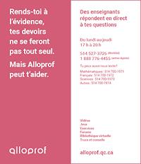 Feuillets Alloprof - Pour les élèves du secondaire - Rose