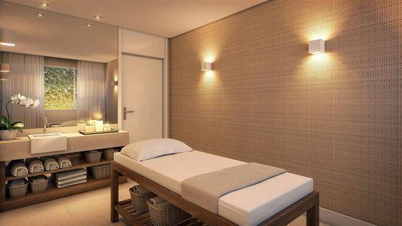 Pin de Mahitha Kiran em Diy wood | Sala de massagem, Decoração de salas de  massagem, Spa interior