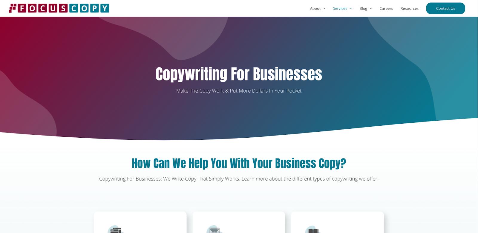 Above the Fold Website Copy