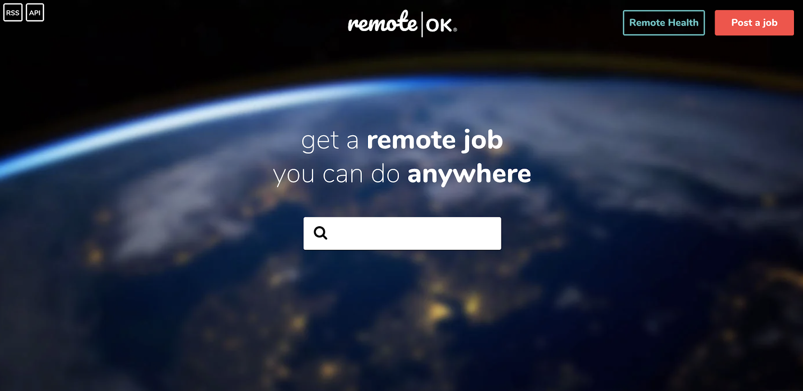 Remote OK: Work From Home Search Engine