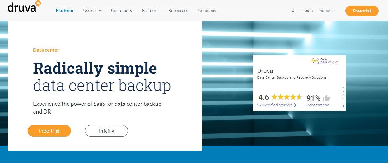 Druva Windows Server Backup Software