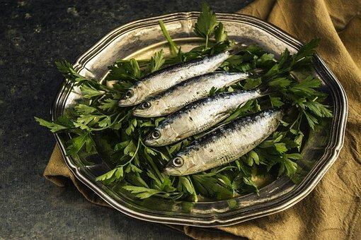 Sardines, Fish, Lunch, Healthy, Plate