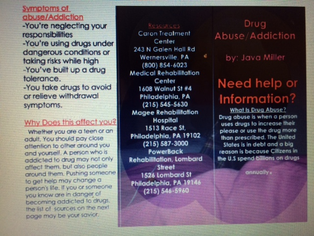 Drug brochure Science Leadership Academy Center City – Drug Brochure