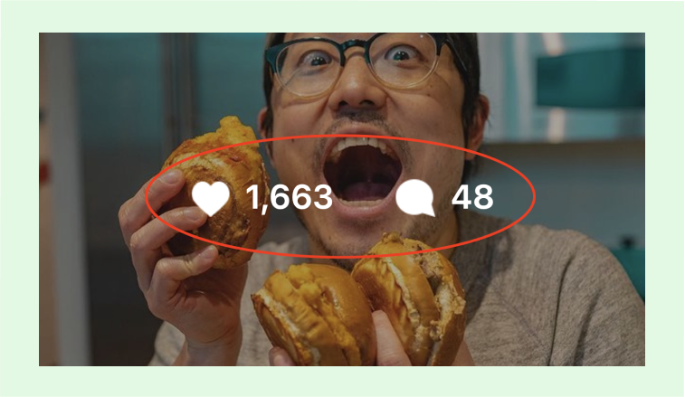 engagement rate by post instagram example