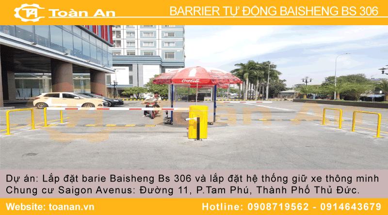 Dự án lắp đặt barrier tự động baisheng bs 306 cho siêu thị coopmart