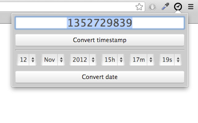 Timestamp to date online converter