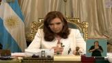 La presidenta argentina, Cristina Fernández, habló en cadena nacional sobre el fallo en la Suprema Corte de EU. (Tomada de YouTube)