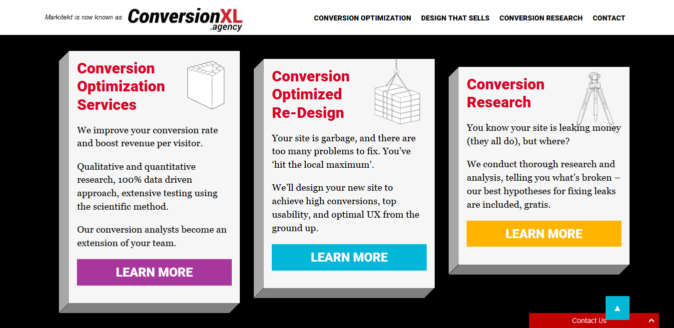 ConversionXL Agency Sales Offers