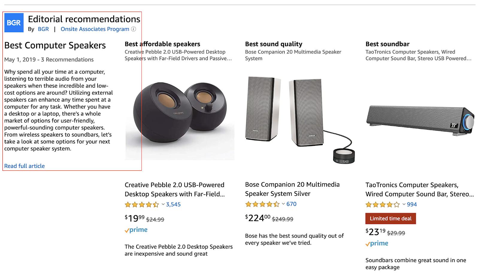 Amazon's Onsite Affiliate Program