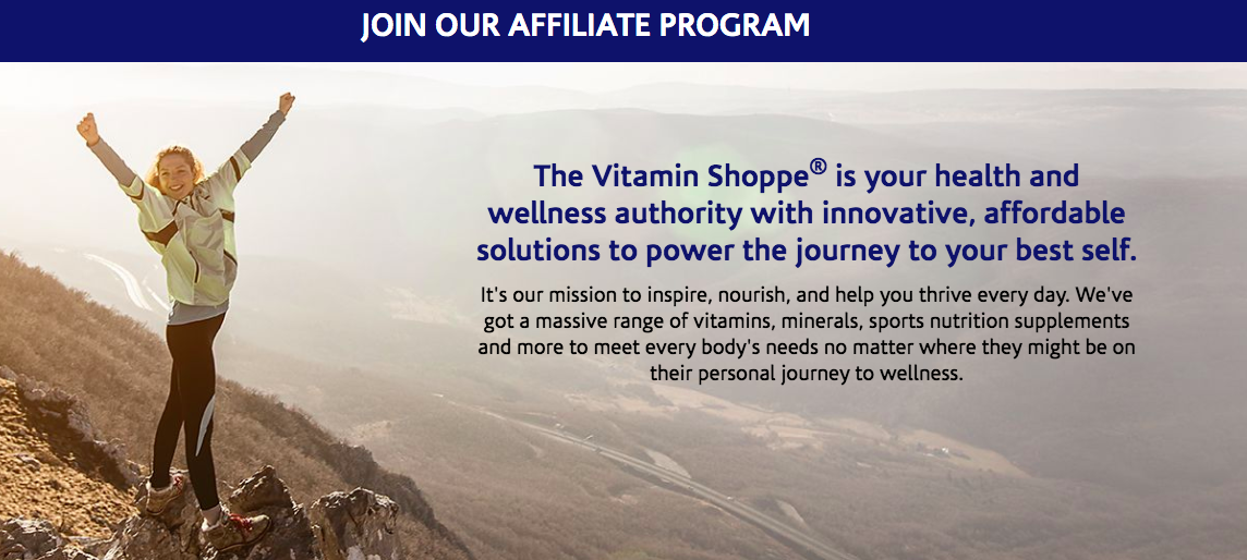 The Vitamin Shoppe affiliate program