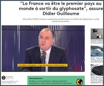 La France va être le premier pays au monde à sortir du glyphosate