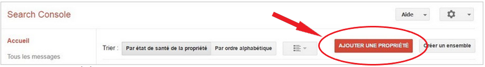 capture écran search console