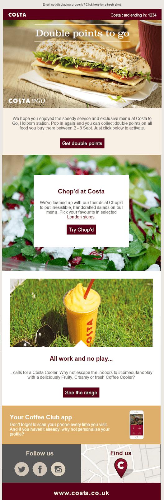 email regarding the coupon code