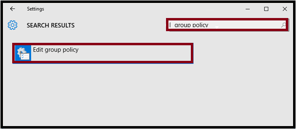 Open Local Group Policy Editor via Settings