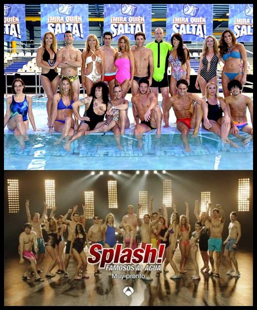 os llegando a fin de mes - Mira quien salta y Splash, famosos al agua - concursantes