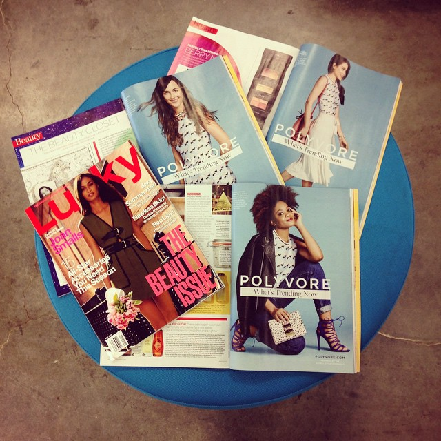 Polyvore members photographed in Lucky magazine!
