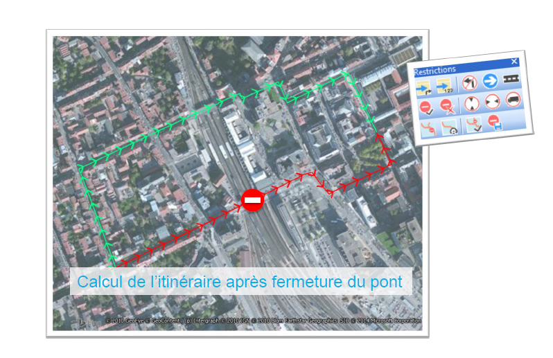routefinder mapinfo Restrictions